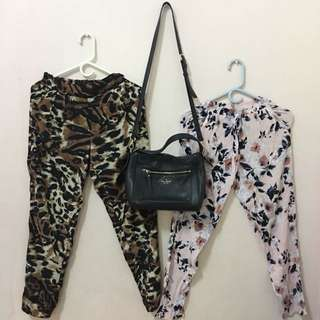 🔥Repriced: F21 leopard & floral bottoms