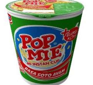 印尼Pop Mi雞湯味杯麵