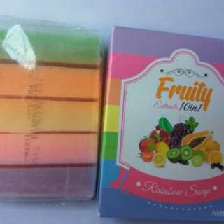 SABUN FRUITY / FRUITAMIN RAINBOW SOAP 10 IN 1 ORIGINAL BPOM
