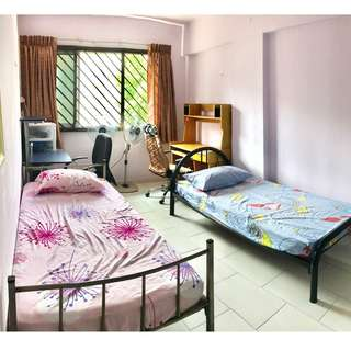 Well furnished bedroom. Sims Drive (Opposite James Cook University, near Aljunied MRT)
