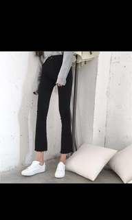 Korean high waisted bell bottom jeans