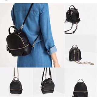 Jual rugi Zara backpack original murah tas sekolah tas kerja tas gendong hnm h&m stradivarius pull&bear