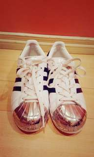 Adidas Superstar Metal Toe size 7 w