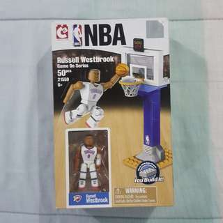 Legit Brand New With Box C3 NBA Russell Westbrook Oklahoma City Thunder Toy Figure Lego-like