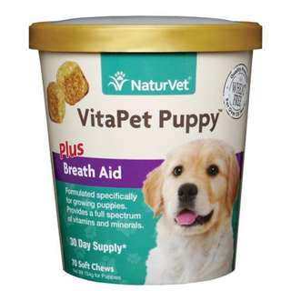 NaturVet VitaPet Puppy Plus Breath Aid Soft Chew Cup 70 count