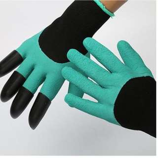 Gardening Gloves with 4 ABS Plastic Claws (1 pair)