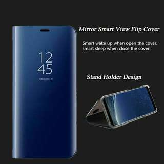Iphone X Flip Cover Smart Mirror Case Clear View Window