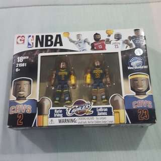 Legit Brand New With Box C3 NBA LeBron James Kyrie Irving Cleveland Cavaliers Toy Figure Lego-like