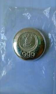 早期:利昌金舖1兩銀餅+4兩銀條「999」純銀