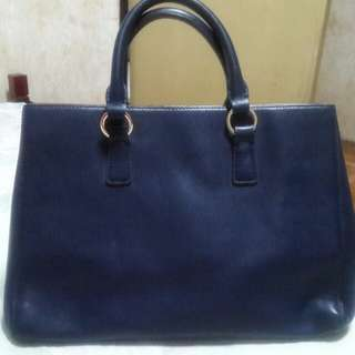 Latulle Genuine Leather Blue Tote Office Bag