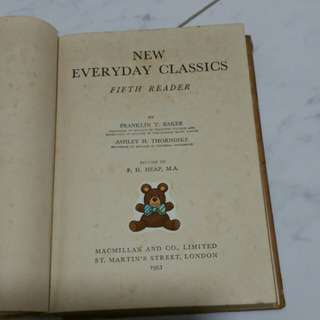 Old classic book printed 1953