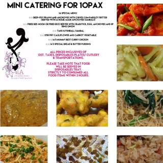 MINI CATERING FOR 10PAX