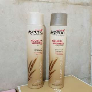 AVEENO, Active Naturals, Nourish + Volumize Shampoo and Conditioner