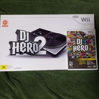 Wii DJ Hero turntable with game cd