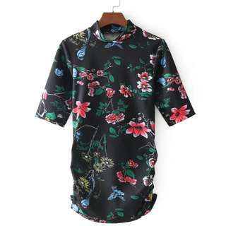🔥Slim Fold printing short sleeve t-shirt top