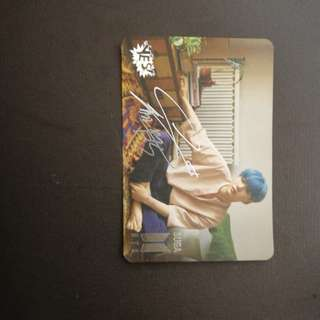 BTS SUGA yes card