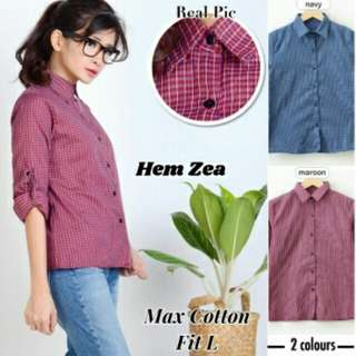 Hem Zea  Bahan cotton halus fit to L