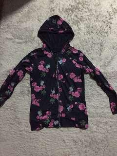 Hoodie floral jacket