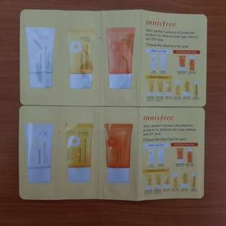 Innisfree UV protection trial kit 6ml