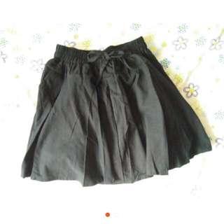 🚚 黑色 蝴蝶結 裙子 短裙