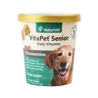 NaturVet VitaPet Senior Plus Glucosamine Soft Chew Cup 60 cts