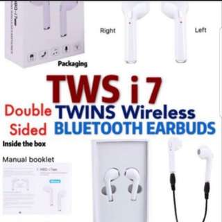 i7 tws twin true wireless earbuds usb charger