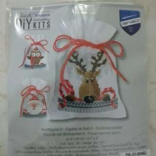 Christmas Buddies Bag Cross stitch kit