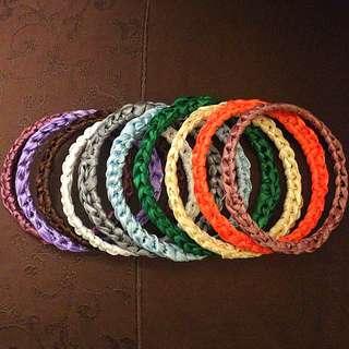 Handmade recycled bangles