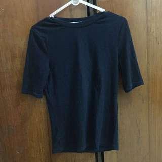 Pull and bear navy shirt