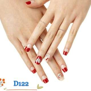 (包郵)韓國直送撕貼式指甲貼 D122
