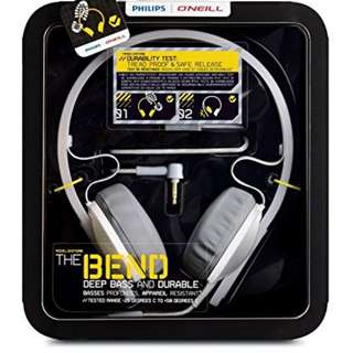 BNIB Philips O'Neill The Bend Headphones
