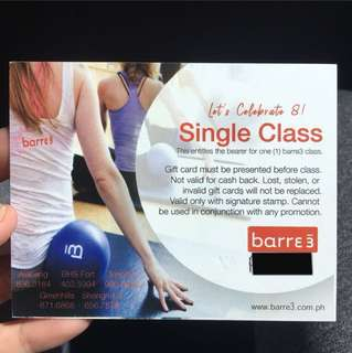 Barre 3 single class pass
