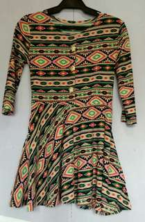 Aztec party dress