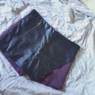 Leather Skort