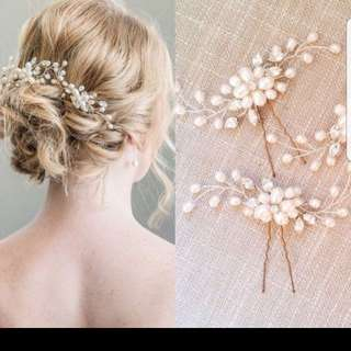 Bridal hair accessory pin