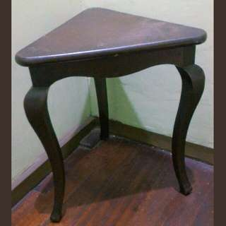 Antique Triangle Corner Table