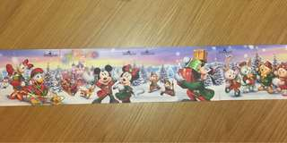 香港迪士尼聖誕特別版明信片一套