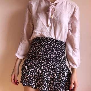 Size 8 | Pale Pink Linen Top