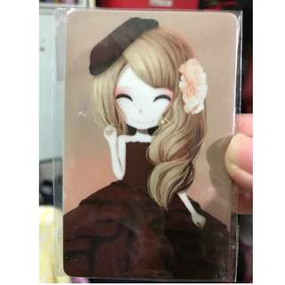 Ez card sticker