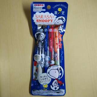 Limited Edition Sarasa Clip xSnoopy 4 Colour Pack