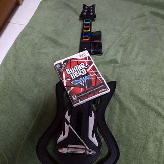 Wii guitar hero with game cd