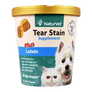 NaturVet Tear Stain Supplement Plus Lutein Soft Chew Cup 70 cts