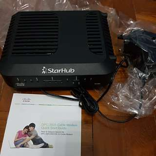 Used - Modem, router & network card