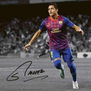 Football Autograph - Alexis Sanchez (Barcelona)