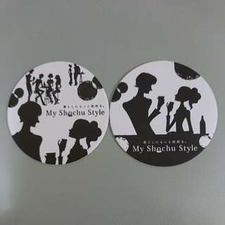 (包郵)$10 for 2,全新日本 My Shochu Style 型格硬咭柸墊 2個,直徑約9cm
