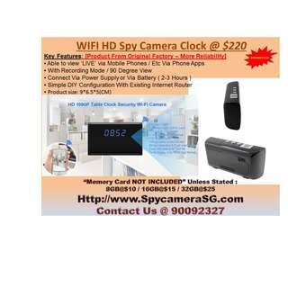 Spy Clock Camera WIFI IP