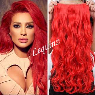 5 Clips Curly Hair Extensions Chilli Red