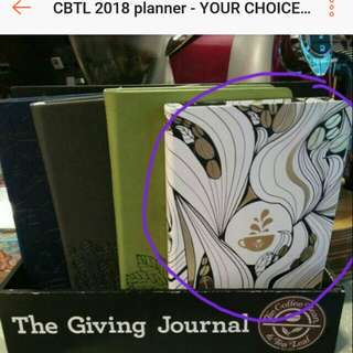SALE -CBTL 2018 journal (your choice of color)