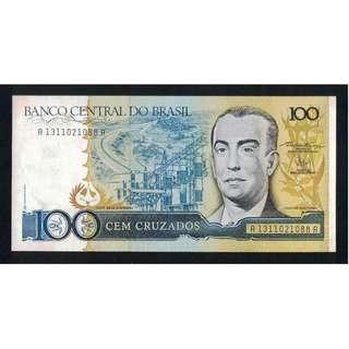 Brazil 100 cruzeiros UNC $2