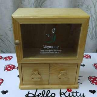 全新木製首飾儲物盒